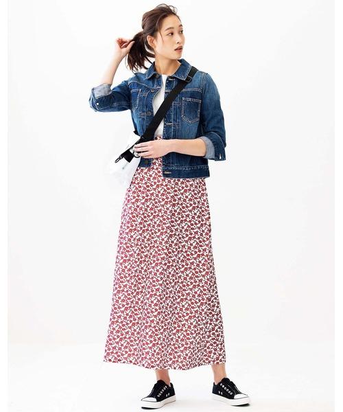[GeeRA] 【20春新着】ソフトマーメイドプリントスカート