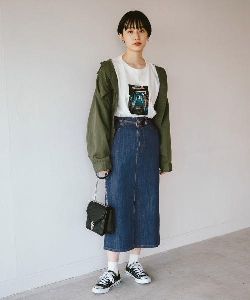 [PAGEBOY] ストレッチデニムナロースカート【20SS】