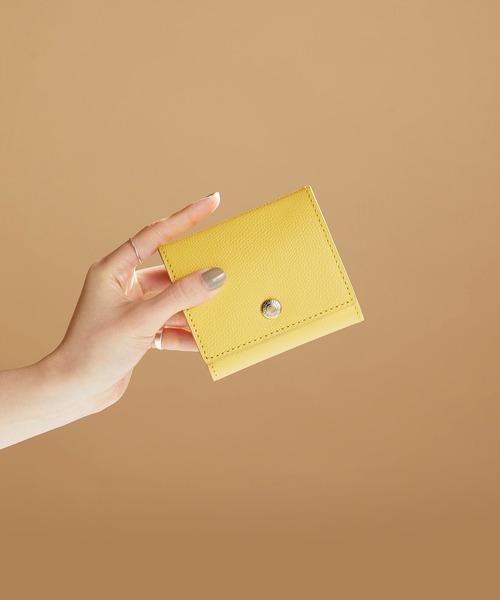 角シボ型押しレディース折り財布