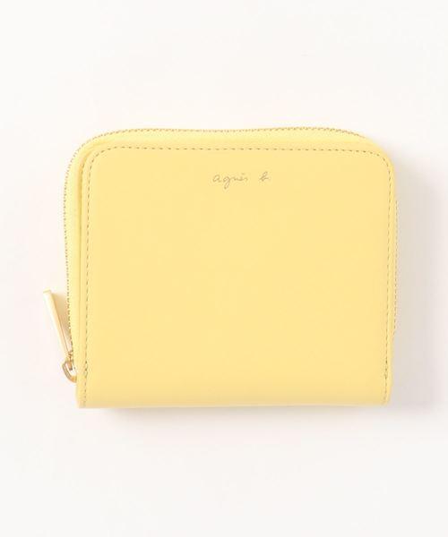 アニエスベーロゴネーム箔押し二つ折り財布