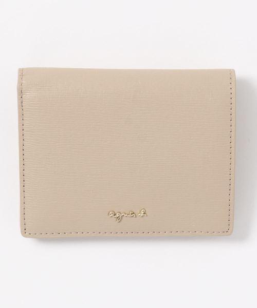 水シボの型押しレザー二つ折り財布