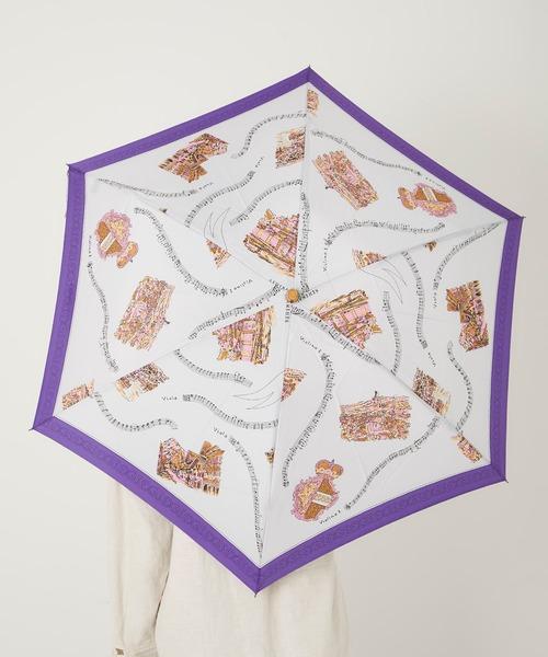 [TOKYO DEPARTMENT STORE] 【manipuri】スカーフ柄晴雨兼用折り畳み傘