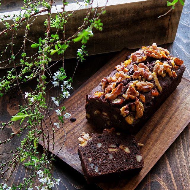 誕生日ケーキにおすすめ!チョコパウンドケーキ