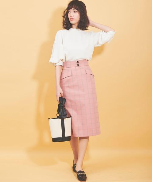[31 Sons de mode] ウィンドウペンチェックタイトスカート