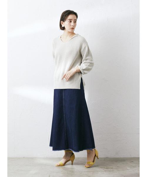 [CRAFT STANDARD BOUTIQUE] 【2020SS】DESIGNED DENIM SKIRT/デザインデニムスカート○*