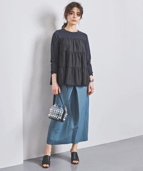 [UNITED ARROWS] <MUVEIL(ミュベール)> フリル カットソー -united LOVE project 2020①†