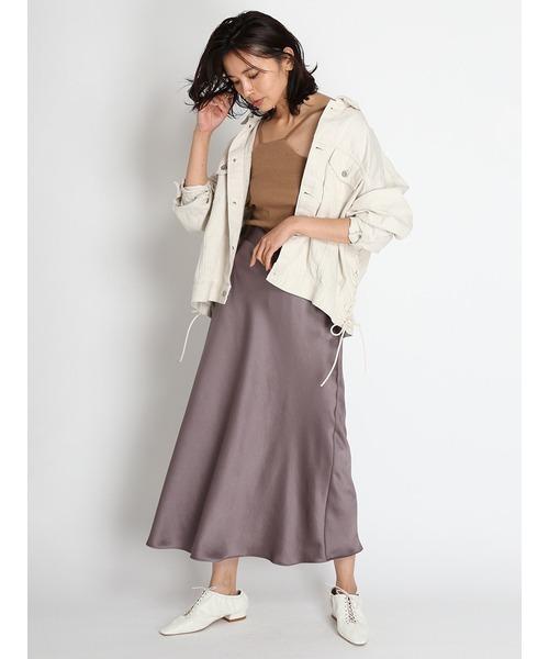 [FRAY I.D] サテンナロースカート