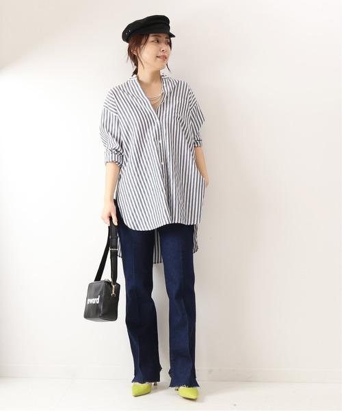 [Spick & Span] 【5 1/2】BEAUTY-LINE SLIT DENIM◆