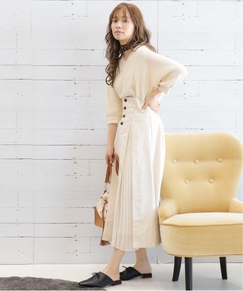 [mysty woman] ボックスプリーツスカート 868286