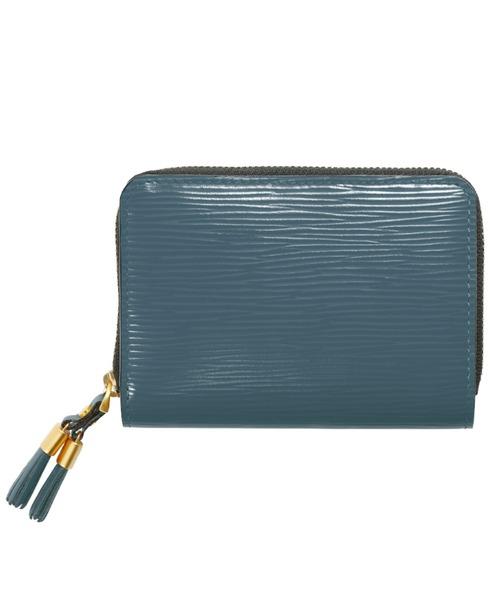 ラウンドジップフリンジ付きレディース財布
