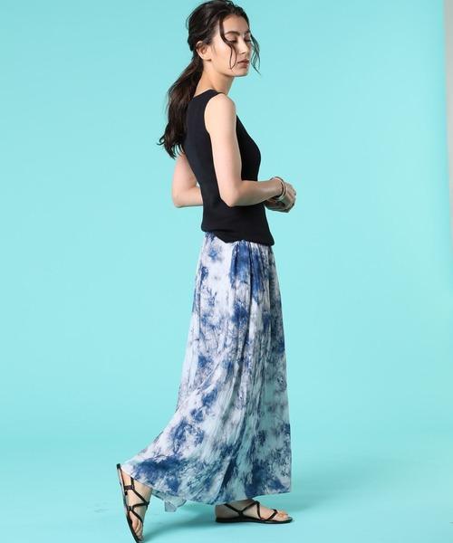 [SUPERIOR CLOSET] 大理石プリントスカート