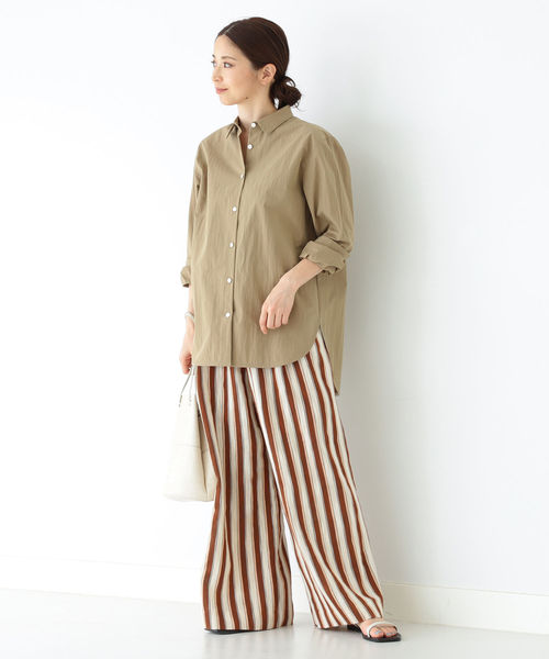 [BEAMS WOMEN] Demi-Luxe BEAMS / オーバーシャツ