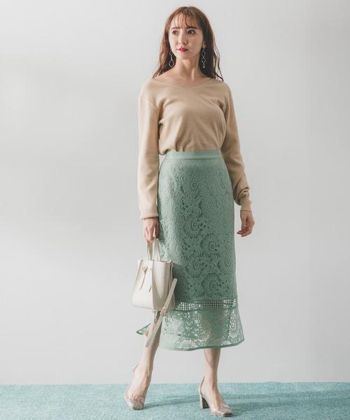 [Andemiu] キリカエレースタイトスカート910160