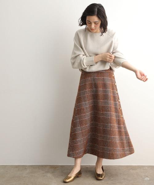 [ADAM ET ROPE'] Garment dye sweatプルオーバー