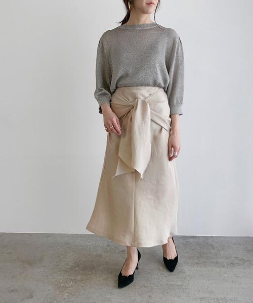 [ROPE'] 【前後2WAY】フロントノットマーメイドスカート