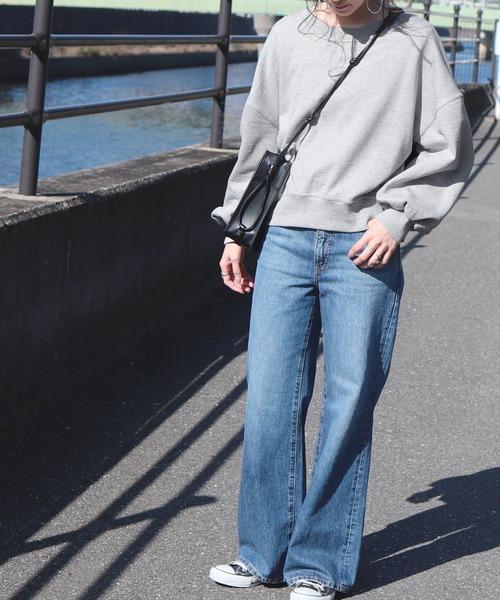 [reca] 袖ボリュームショート丈スウェット