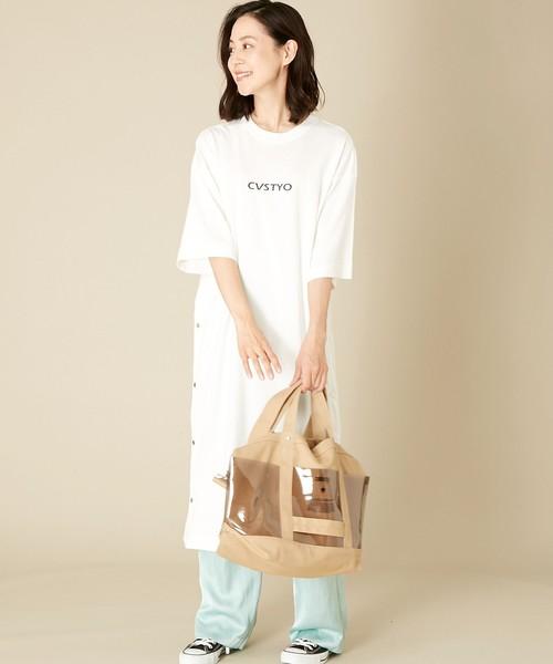[CONVERSE TOKYO] PVCポケットキャンバストート(M)