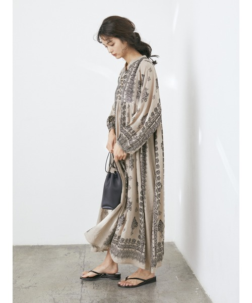 [CRAFT STANDARD BOUTIQUE] 【2020SS】PRINTED ONE-PIECE/切り替えワンピース*