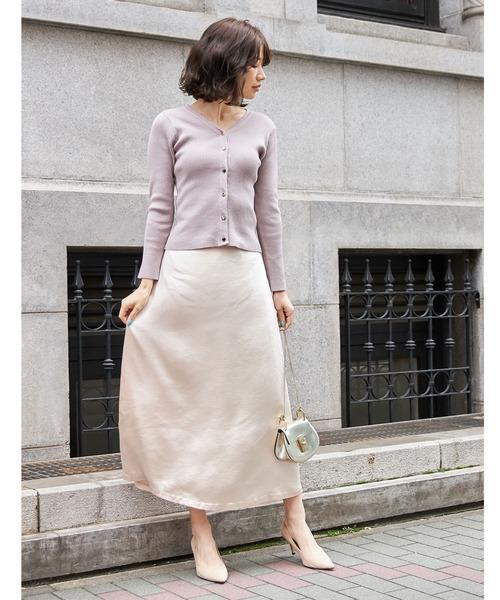 [tocco closet] ヴィンテージサテンナロースカート