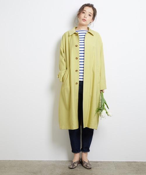[ROPE' PICNIC] 【花粉ガード】ステンカラーコート