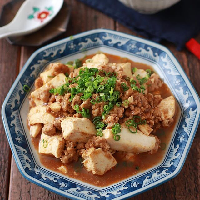 簡単な食べ方!カクテルには鶏ひき肉の麻婆豆腐