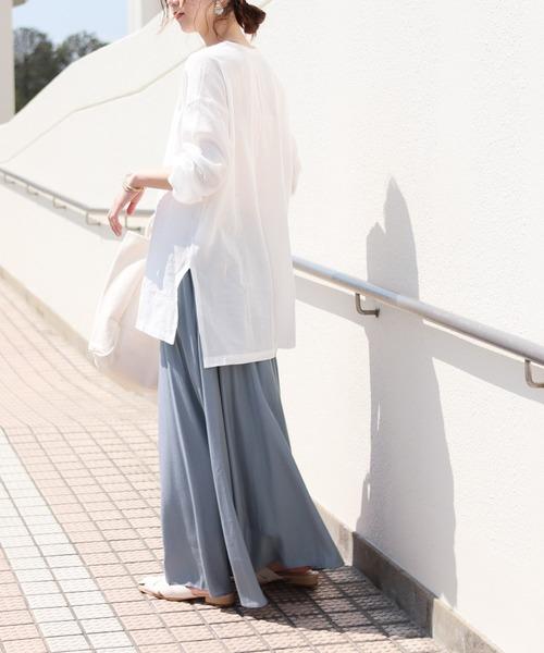 [reca] サテンギャザースカート ツイリースカーフ付き