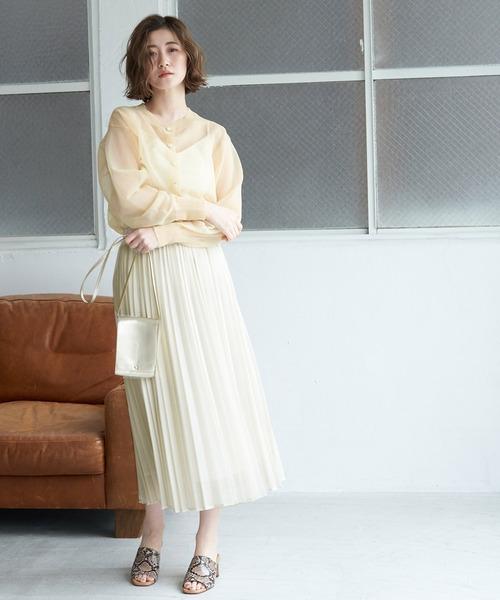 [ROPE' PICNIC] シアーアコーディオンプリーツスカート