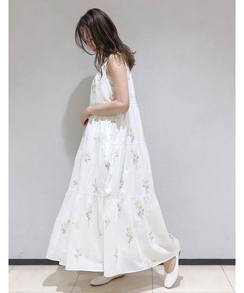 [gelato pique] ミモザロングティアードドレス