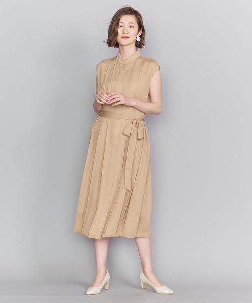 [BEAUTY&YOUTH UNITED ARROWS] BY DRESS プリーツバンドカラーシャツドレス