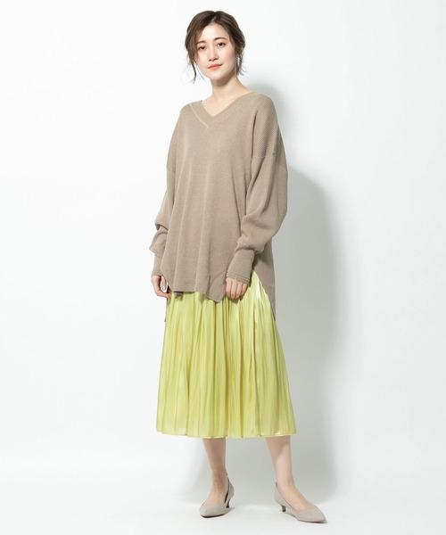[RIVE DROITE] リキッドギャザースカート