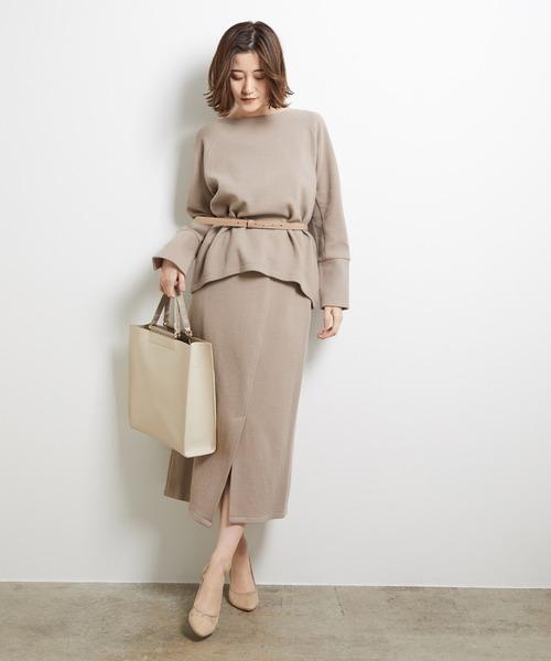[ROPE' PICNIC] 【セットアップ対応】アシメカットスカート