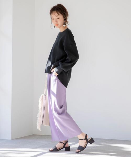 【2020最新】春の黒サンダルコーデ6