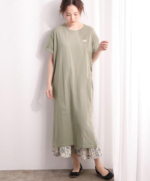 [ViS] 【Lee×ViS】Tシャツワンピ