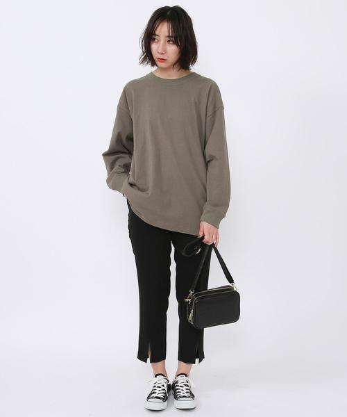 [coen] 【WEB限定】コーエンベアバックプリントTシャツ(ロングスリーブ/ロンT)