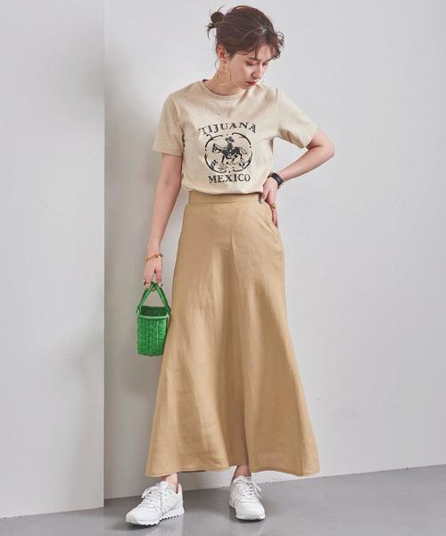 Aラインスカートのコーデ