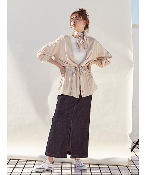 [DRWCYS] Aラインデニムスカート