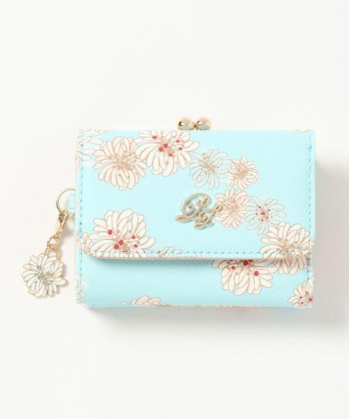 オリエンタルな花柄がおしゃれなミニ財布