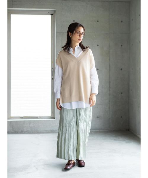[koe] 【セットアイテム】ニットベスト&シャツ*