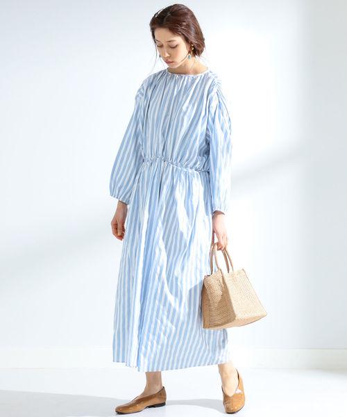 [BEAMS WOMEN] GHOSPELL / Stripe Pocket Dress