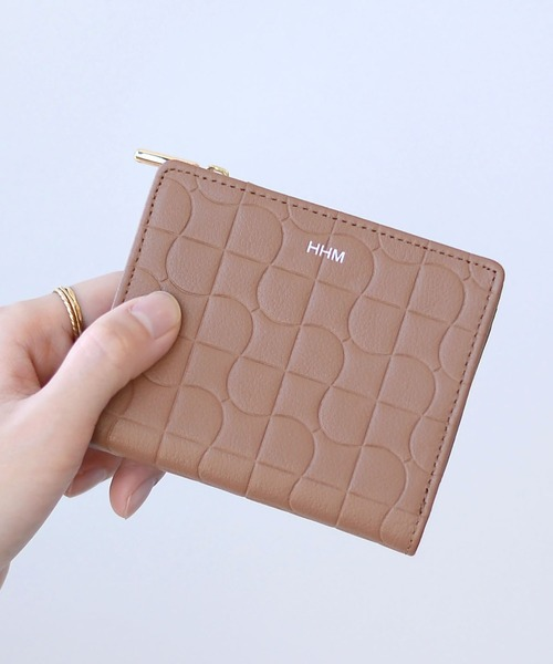 [HITCH HIKE] タイル柄2つ折り財布