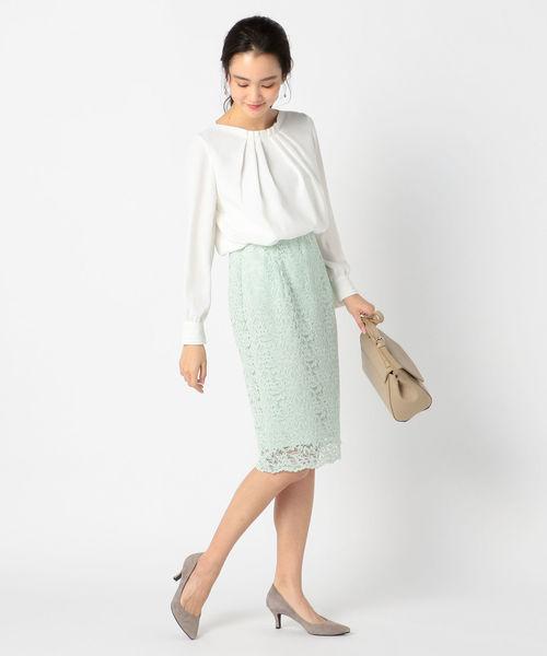 [NOLLEY'S] リーフレーススカート