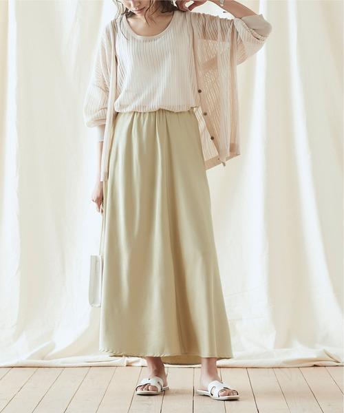 [titivate] ヴィンテージサテンギャザーマキシスカート