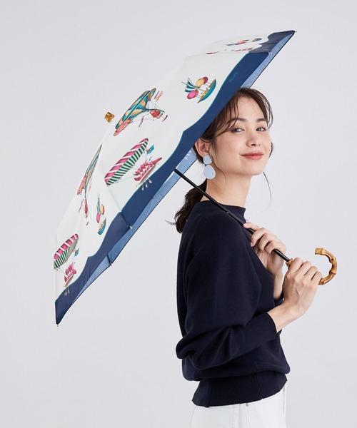 [ROPE'] スカーフ柄バンブーハンドルアンブレラ
