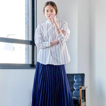 ネイビースカートの夏コーデ【2020最新】きれいめが簡単に叶う大人の着こなしテク