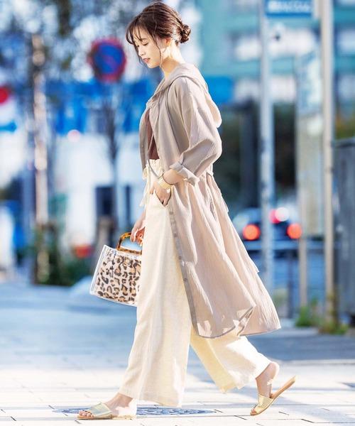 [GeeRA] 【20夏新着】麻入りリラックスワイドパンツ