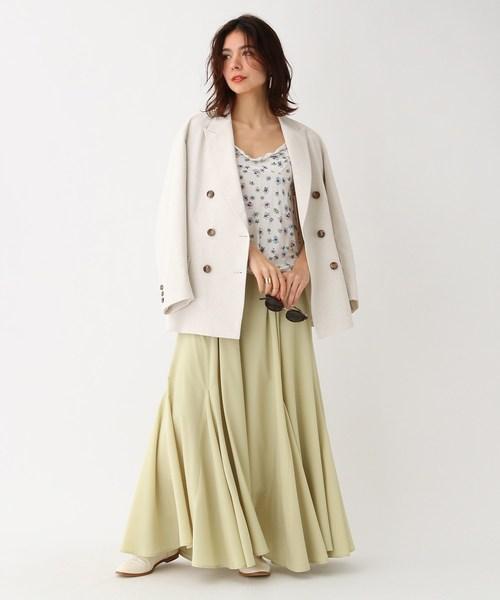 [aquagirl] ボリュームドレープマキシスカート