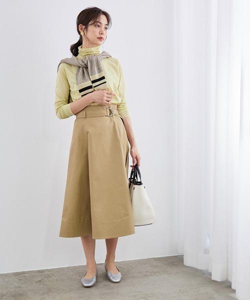 [ROPE'] ヘムステッチフレアースカート
