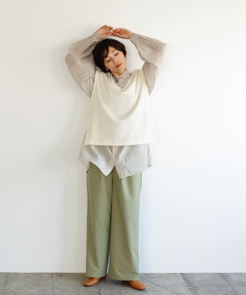 [Birthdayroom] 【ファッションインフルエンサーmisato×Birthdayroom】膨れジャガードベスト/ロングベスト
