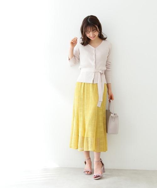 [PROPORTION BODY DRESSING] シアーレースマーメイドスカート
