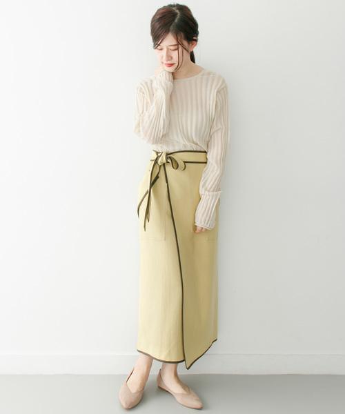 [KBF] パイピングラップスカート
